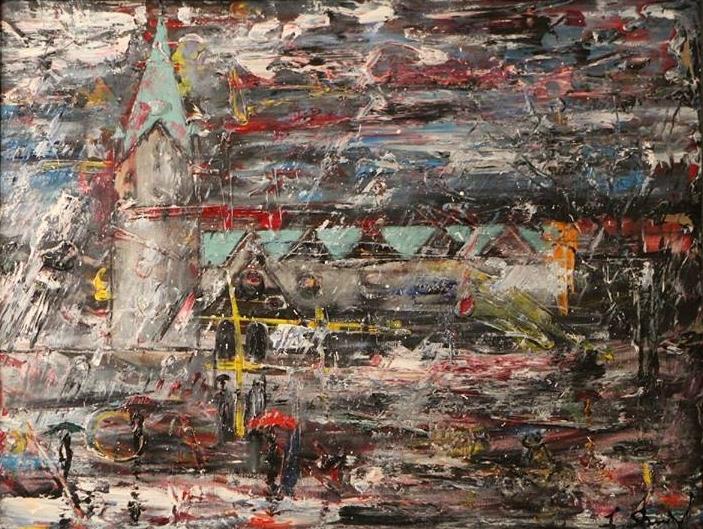 Paderborn im Regen Dom