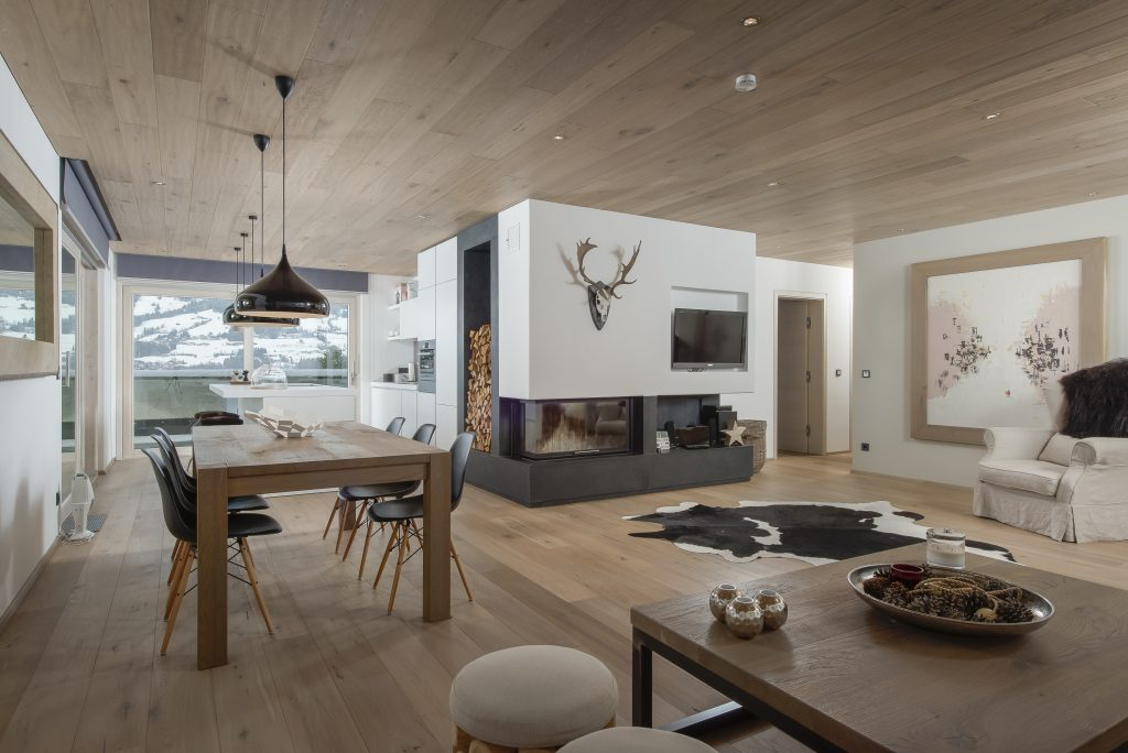 Immobilien Kitzbühel Villa Luxusimmobilie Modernes alpines Apartemt